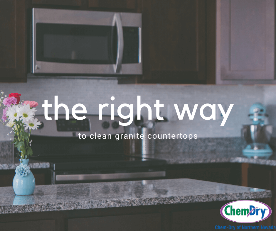 the right way to clean granite countertops chem-dry